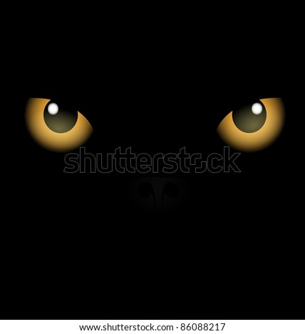 black background yellow eyes
