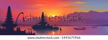 black balinese water temples