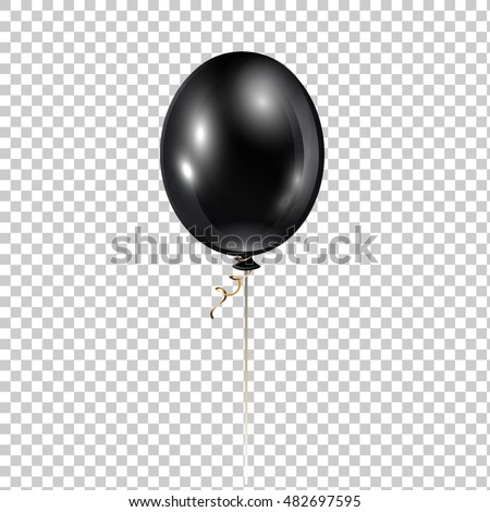 black balloon transparent