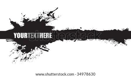 black banner splash