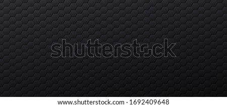 black banner with hexagonal