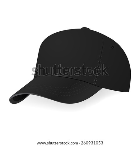 black baseball cap in a half