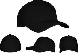 Black baseball cap. vector illustration