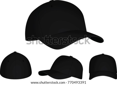 Black baseball cap. vector illustration