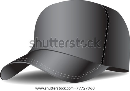 black baseball cap vector illustration