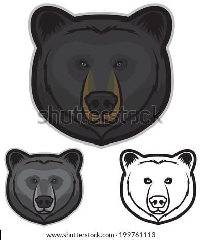 black bear faces