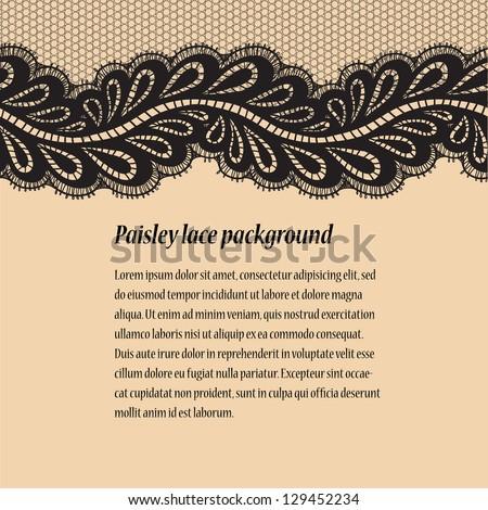 Black-beige lace background