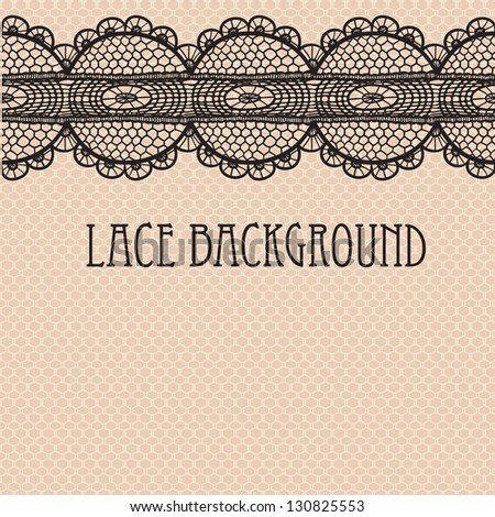 Black-beige lace background.