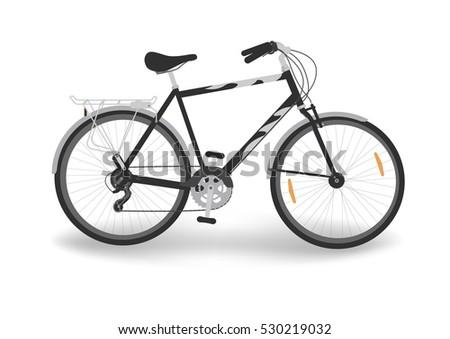 black bicycle bike isolated on