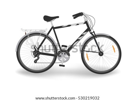 black bicycle with trunk  bike