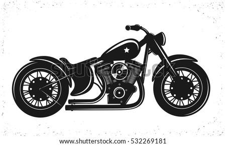 black bike vector illustration