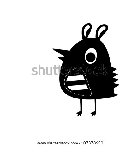 black bird - stock vector