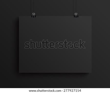 black blank horizontal sheet of