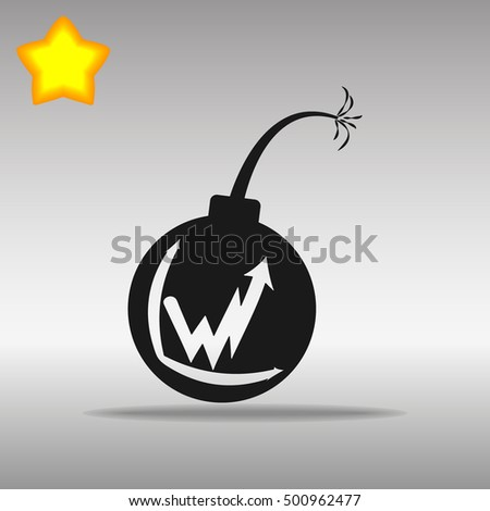 black bomb icon button logo