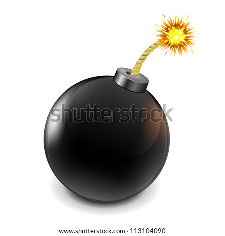 black bomb  isolated on white