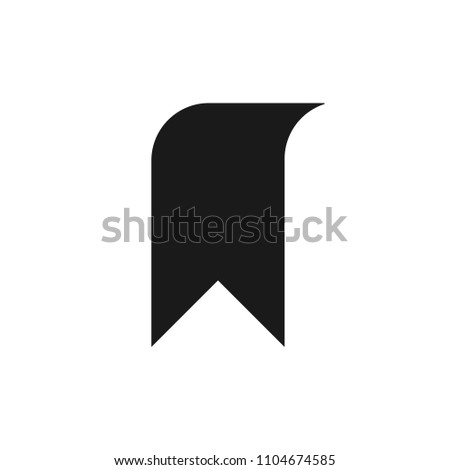 Black bookmark icon illustration isolated on background