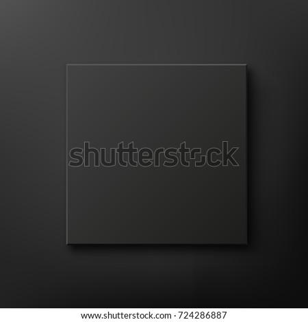 black box isolated on black