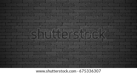 Black brick wall texture vector illustration