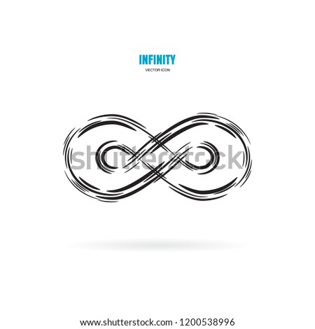 black brush stroke infinity