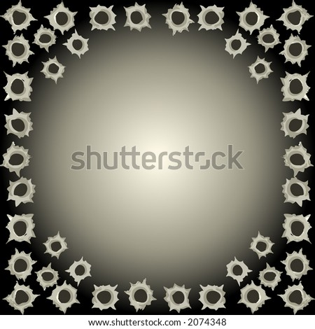 Black bullet hole background - vector illustration