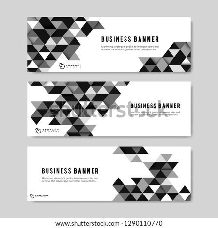 Black business banner design illustration