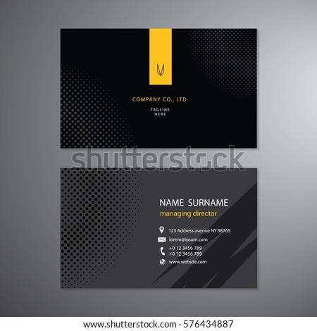 black business cards set design template vector