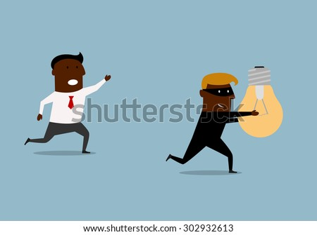 black businessman running and