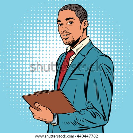 black businessman with