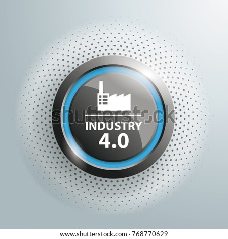 black button with text industry