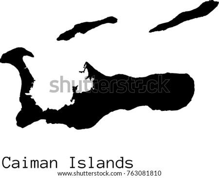 black caiman islands  map
