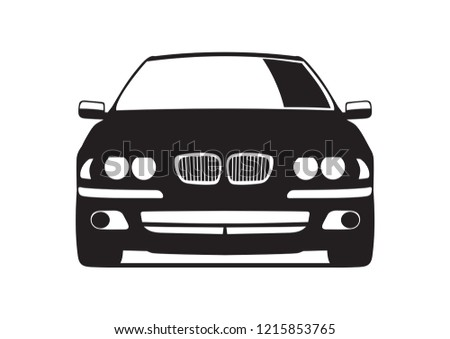 black car front view vector