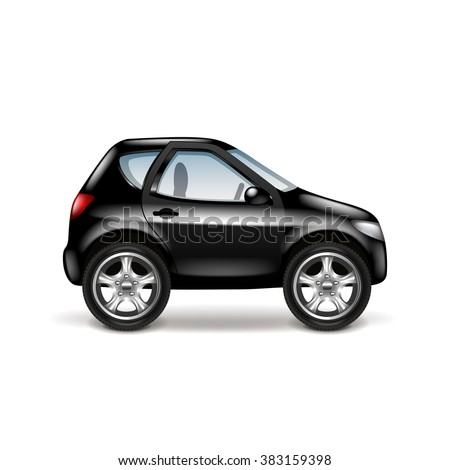 black car profile isolated on