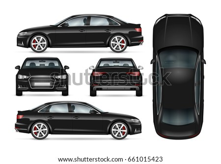 black car vector template for