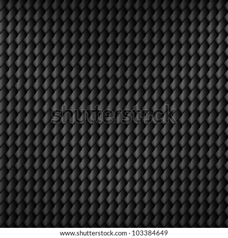 Black carbon seamless pattern with squama symbol, vector, 10eps.