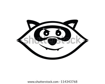 Black Cartoon Raccoon.