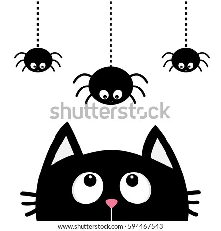black cat face head silhouette