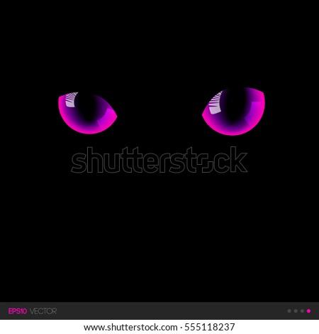 black cat fantastic pink eyes