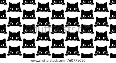 black cat kitten vector