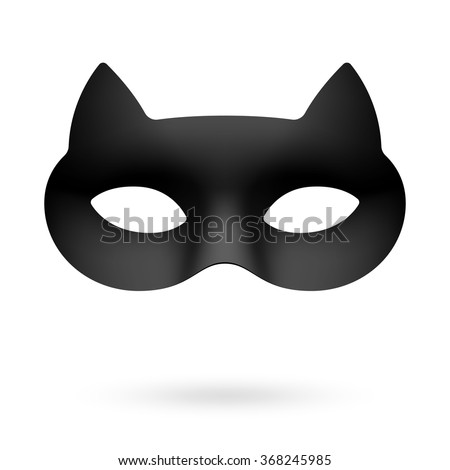 black cat masquerade eye mask