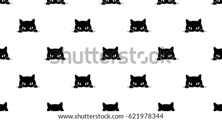 Black cat Seamless Pattern background wallpaper