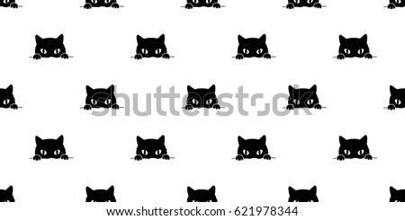 Black cat Seamless Pattern background wallpaper