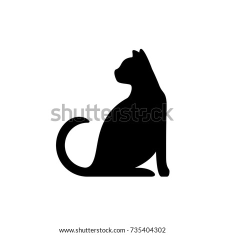 black cat silhouette elegant