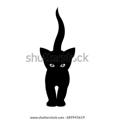 black cat silhouette goes
