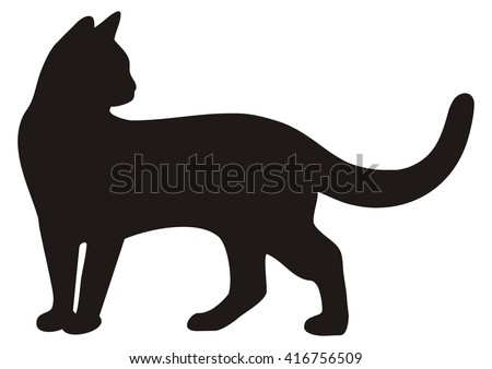 black cat vector icon