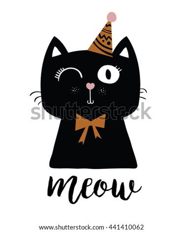 black cat vector t shirt print