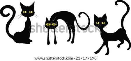 black cats   halloween   vector