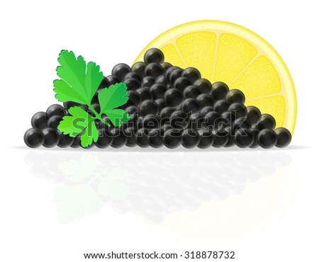 black caviar with lemon and