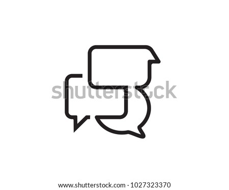 Black chat icon vector design for websites.