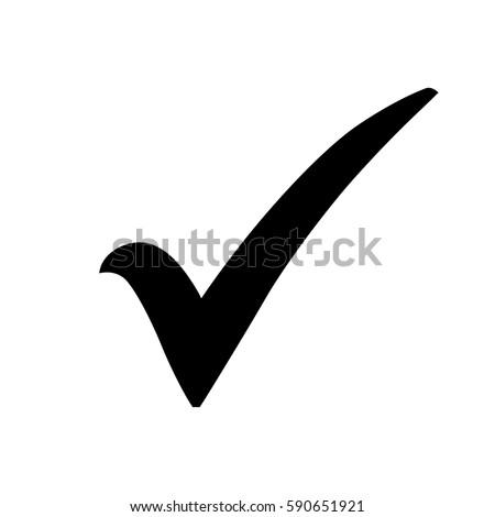 black check mark icon. tick...