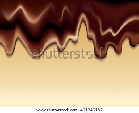 black choco spread flowing on